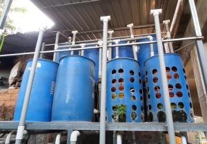 Filter Unit of Aquaponics fish farming
